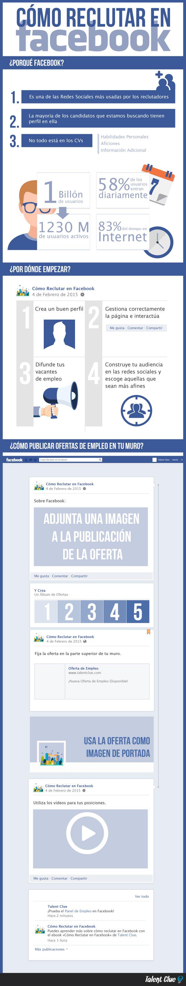 Cómo reclutar en Facebook [INFOGRAFÍA]