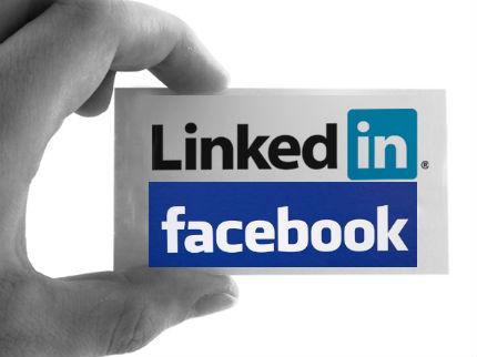 facebook linkedin
