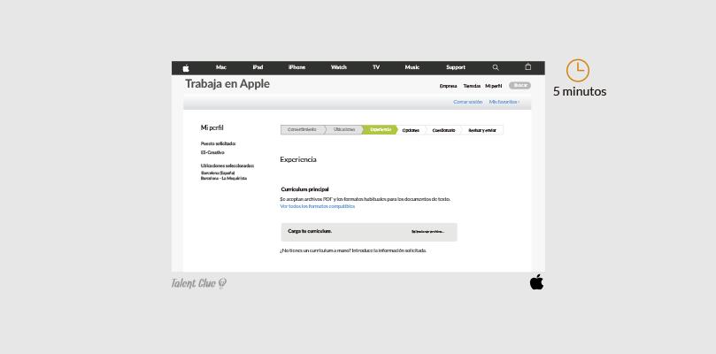 Formulario de ofertas de empleo - Apple