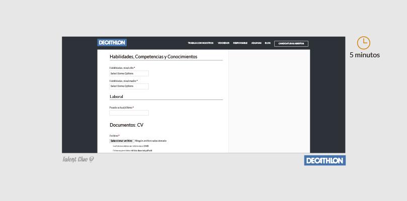 Formulario de ofertas de empleo - Decathlon