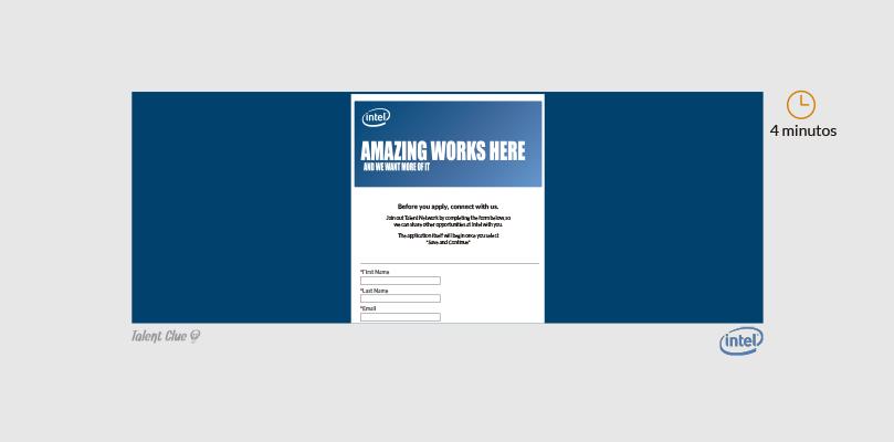Formulario de ofertas de empleo - Intel
