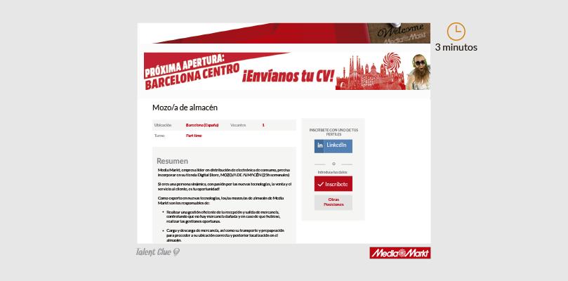 Formulario de ofertas de empleo - MediaMarkt