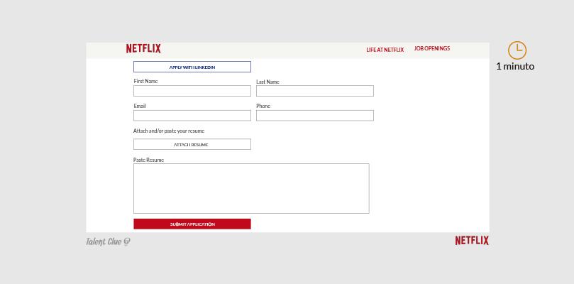Formulario de ofertas de empleo - Netflix