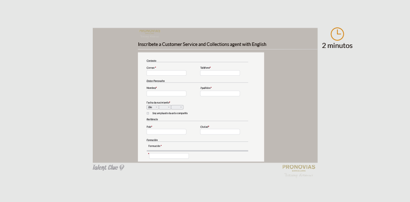 Formulario de ofertas de empleo - Pronovias