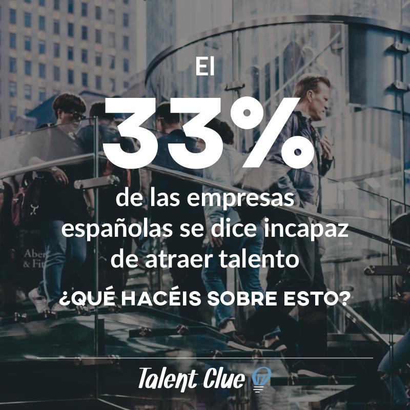 El 33% de las empresas españolas es incapaz de atraer talento. ¿Qué tal va tu empresa?