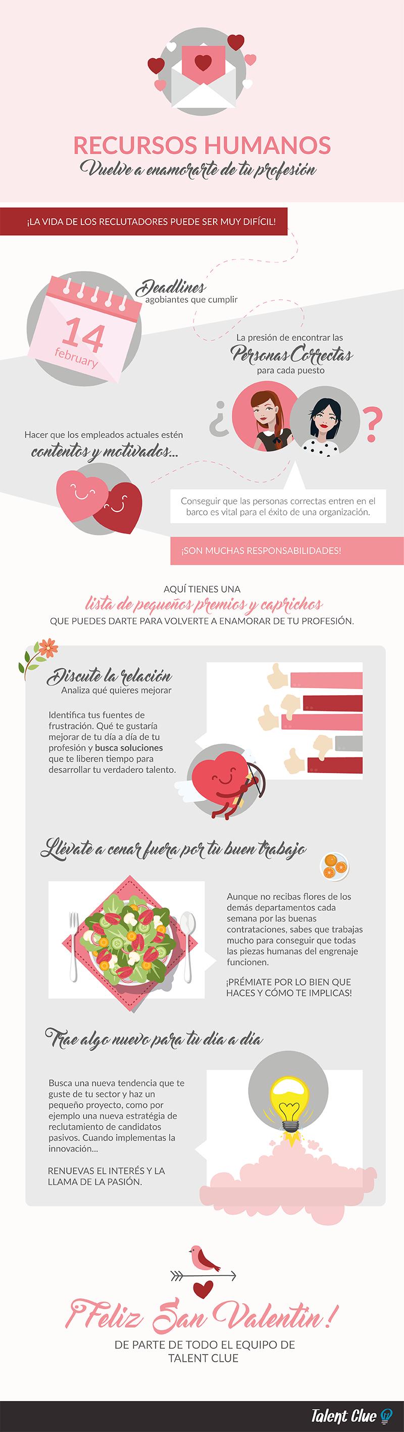 Infografia San Valentín Vuelve a enamorarte del trabajo de reclutamiento