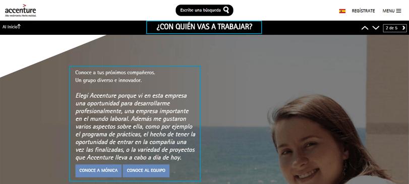 Página de Empleo de Accenture ES