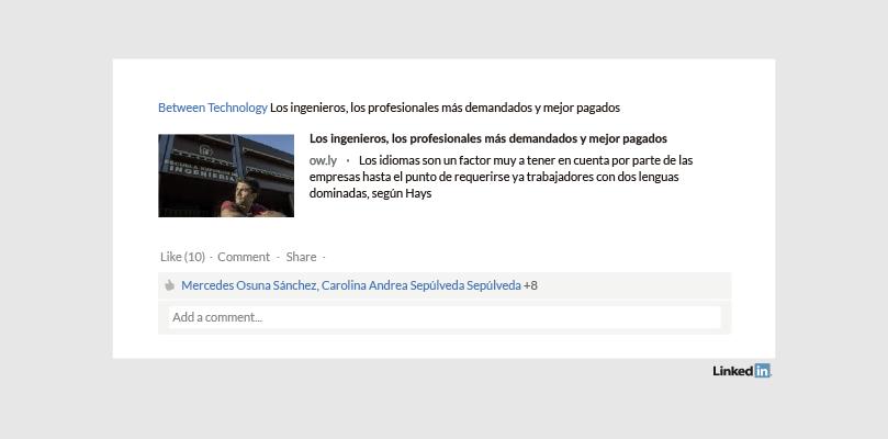Perfil LinkedIn Empresa Between Technology