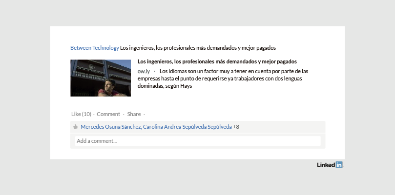 Perfil LinkedIn Empresa Between Technology