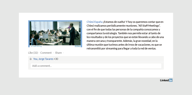 Perfil Empresa LinkedIn Chiesi España