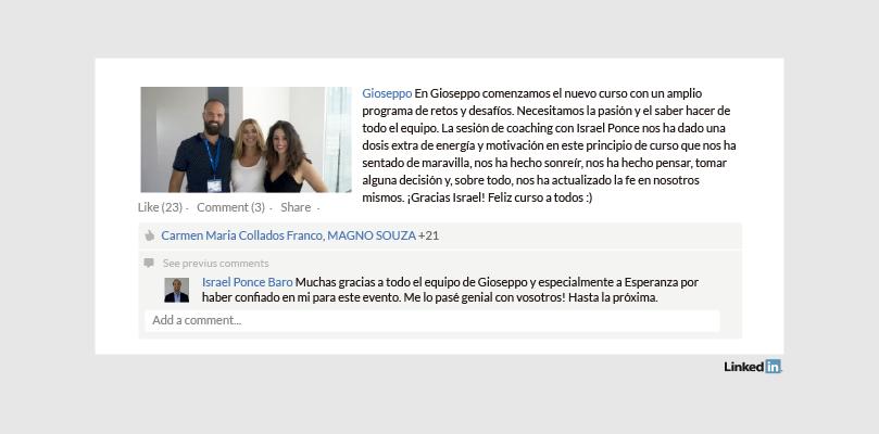 Perfil de LinkedIn Empresa Gioseppo