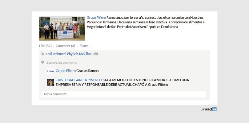 Grupo Piñero Perfil de Empresa en LinkedIn