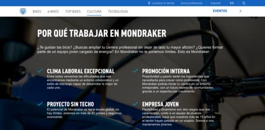 Página de Empleo Mondraker