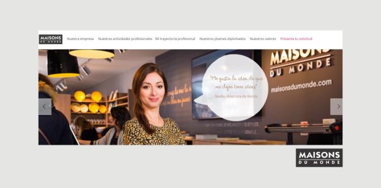 Página de empleo Maisons du Monde