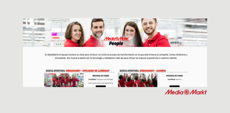 Página de empleo MediaMarkt