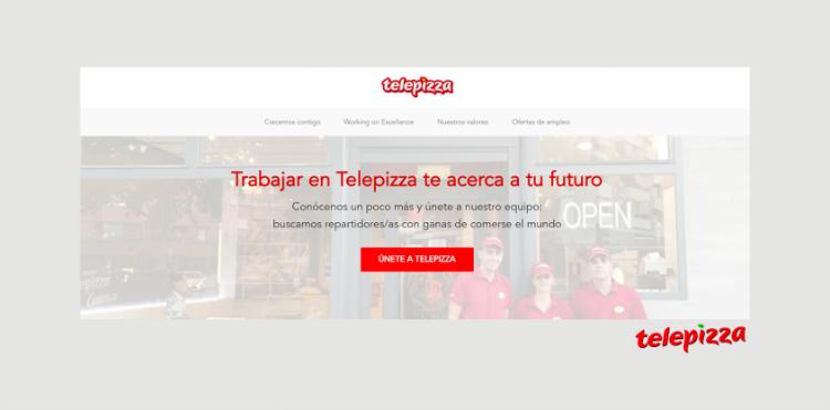 Página de empleo Telepizza
