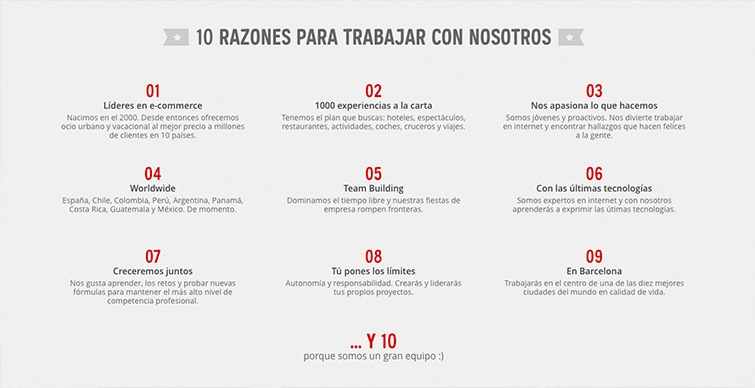 employee value proposition ejemplo atrapalo