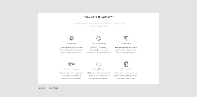 Página de Empleo Typeform