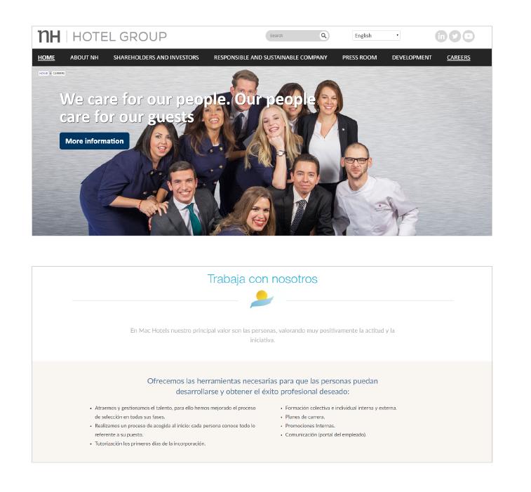 página de empleo hoteles